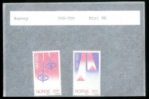 NORWAY Sc#798-799 MINT NEVER HINGED Complete Set