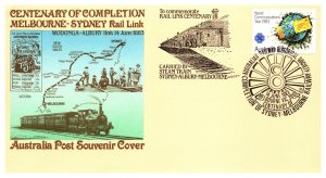 Australia, Worldwide First Day Cover, Trains