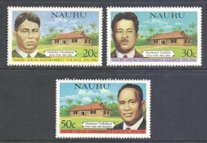 Nauru Scott 224/226 - SG235/237, 1981 Local Government Council Set MNH**