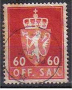 NORWAY, 1955, used 60ore Official