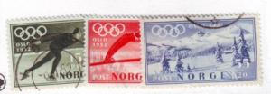 Norway Sc B50-2 1951 Winter Olympic stamps used