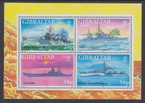 Gibraltar 732 Ships Souvenir Sheet MNH VF
