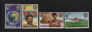 SWAZILAND 423-426 (4) Set, Hinged, 1983 Commonwealth Day