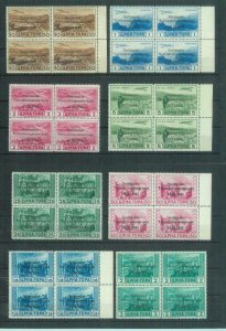 87028 -  MONTENEGRO German Occup -  STAMPS -  Sass # 10/13 + Air 1/4 BLOCK of 4