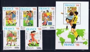 Laos 1268-73 NH 1986 Soccer set