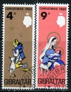 Gibraltar #217-8 Christmas: ~ (7343)
