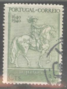 PORTUGAL Scott 590 Used horseman stamp