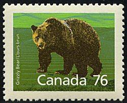 Canada - 1989 76c Grizzly ex. Booklet VF-NH #1178a