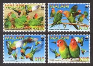 Malawi MNH 751a-d Lilian's Love Birds WWF 2009