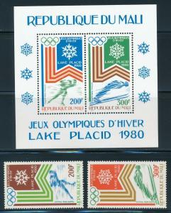 Mali - Lake Placid Olympic Games MNH Set (1980)