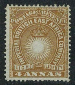 British East Africa Scott 19 Unused hinged.