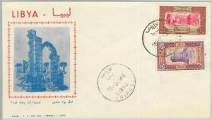 67024 - LIBYA - Postal History -  FDC Cover 1966 - ARCHITECTURE Archeology