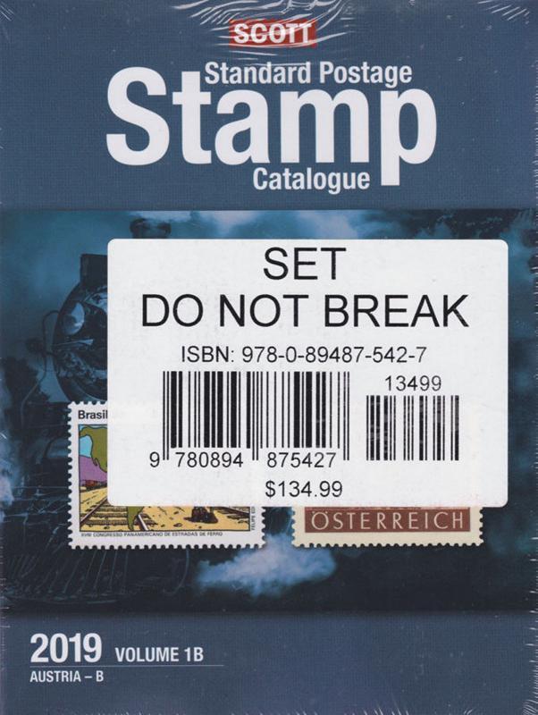 Scott Stamp Catalog 2019 Volume 1A & 1B - COUNTRIES A-B