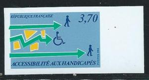 France 2114 Y&T 2536 1988 Handicapped single IMPERF MNH