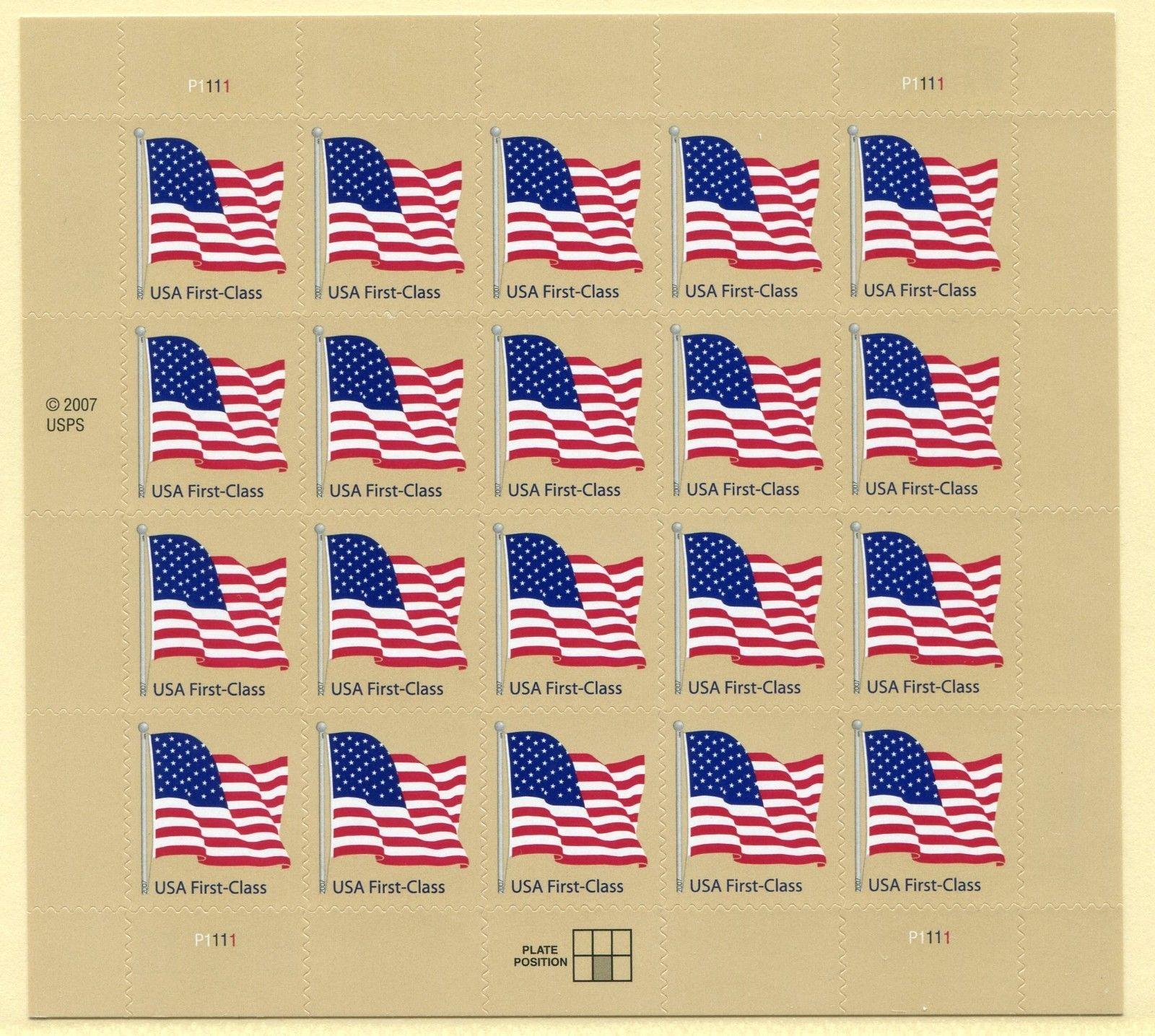 US Scott 4130 Flag Mint Sheet Of 20 41 Cent Stamps HipStamp