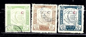 Paraguay L34-36 Used 1931-36 issues