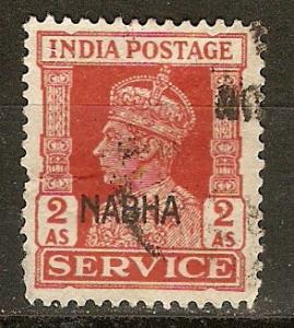 India Nabha O46 SG O62 Used VF 1944 SCV $2.25