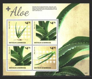Antigua and Barbuda. 2014. Small sheet 5159-61. Aloe, medicine. MNH.