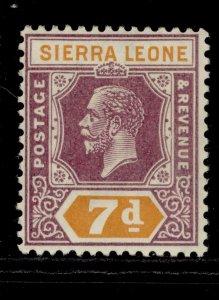 SIERRA LEONE GV SG140, 7d purple and orange, LH MINT.