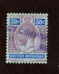 BRITISH HONDURAS #100 USED F-VF Cat $16