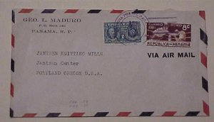 PANAMA   COVER WITH BOXING STAMP 1940 TO USA