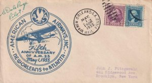 1933, American Airlines, 5th Anniv. Flt., New Orleans, LA, See Remark (41930)