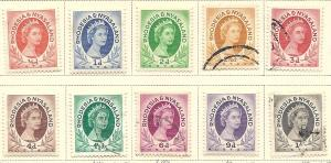 Rhodesia & Nyasaland # 141-149  (M&U) CV $9.70