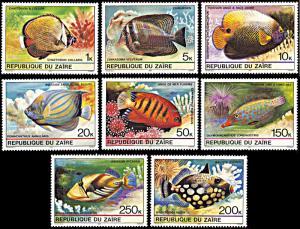 Zaire 974-981, MNH, Tropical Fish