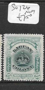 LABUAN (P0104B)  CROWNS 25C   SG 126  MOG