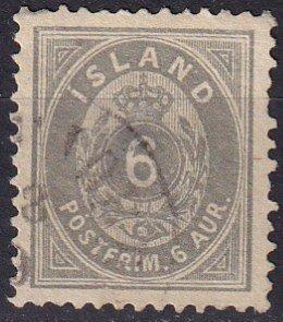 Iceland #25  F-VF Used CV $19.00 (Z7785)