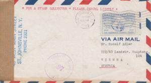 United States New York Saint Johnsville 1949 machine  15c Universal Postal Un...