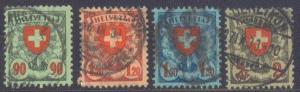 Switzerland  200-3 Used 1924 Definitives CV $21.25