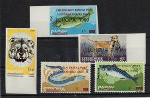 Europa 1969 Emergency Strike Post Stamps Lot of 5 MNH  -DCA
