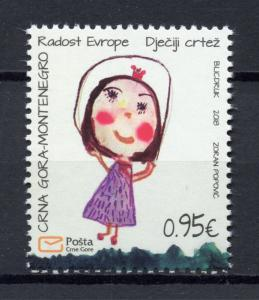 Montenegro 2018 MNH Joy of Europe 1v Set Childrens Drawings Art Stamps