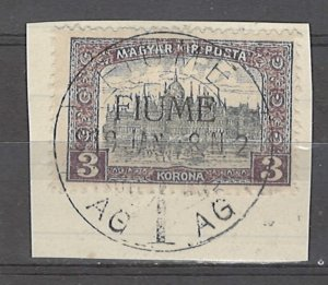 COLLECTION LOT # 4886 FIUME #18 ON PIECE 1918 CV+$27