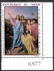 NIGER 1967 150fr Religious Art by Jean Ingres Airmail Sc C77 MNH
