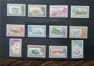 British Honduras 1953 - 62 set to $5 LMM SG179 - SG190