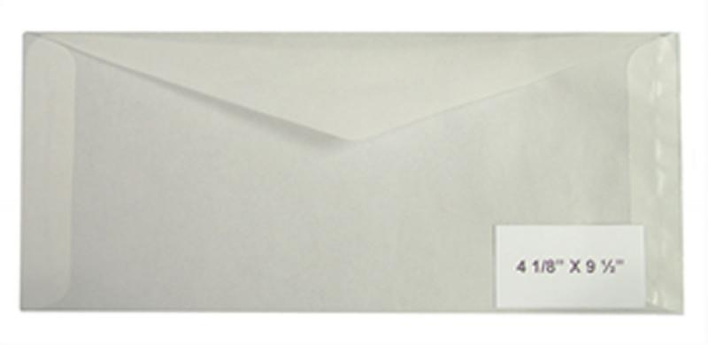 100 count - Glassine Envelopes #10 - ACID FREE - size 4 1/8 x 9 1/2 - NEW