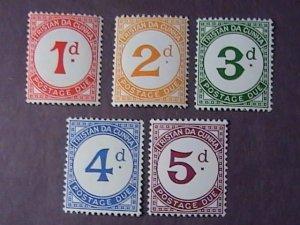 TRISTAN DA CUNHA # J1-J5-MINT/HINGED--POSTAGE DUE--COMPLETE SET-1957(#2)