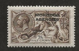 GREAT BRITAIN OFFICES - MOROCCO SC# 217a  FVF/MOG 1914