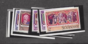 St. Vincent, 483-94, Silver Jubilee 1977 Singles, MNH
