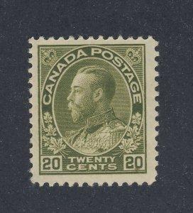Canada WW1 Admiral MH Stamp #119-20c MH F/VF Guide Value = $95.00
