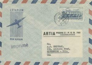 Czechoslovakia 1K European Timetable Conference 1957 Praha 32 Airmail Printed...