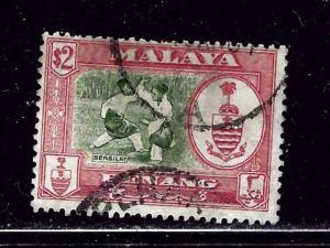Malaya-Penang 65 Used 1960 issue few nibbed perfs at top