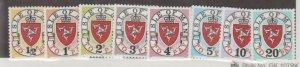 Isle of Man Scott #J1-J8 Stamps - Mint NH Set
