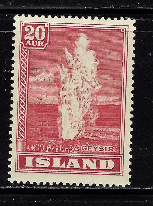 Iceland 204 Lightly Hinged from the 1938-47 set