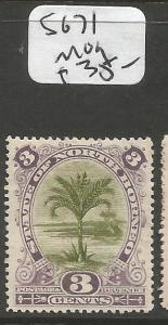 North Borneo SG 71 Tree MOG (7cls)