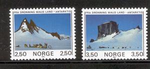 NORWAY 855-856 MNH ANTARCTIC MOUNTAINS 1985