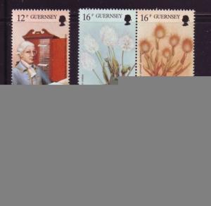 Guernsey Sc  394-9 1988 Flora Sarniansis stamp set NH