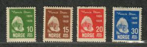 Norway Sc#132-135 M/NH/VF, Complete Set, Cv. $85